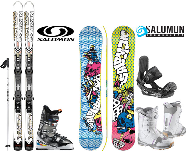 Salomon ski and snowboard package